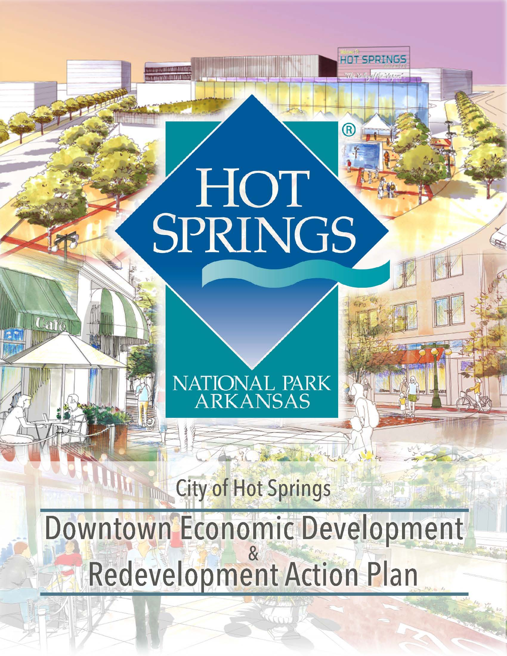 artist drawing as shown on cover of downtown plan document