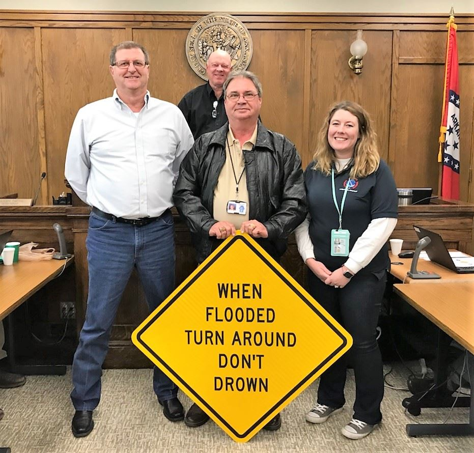 Turn Around Don&#39t Drown sign photo