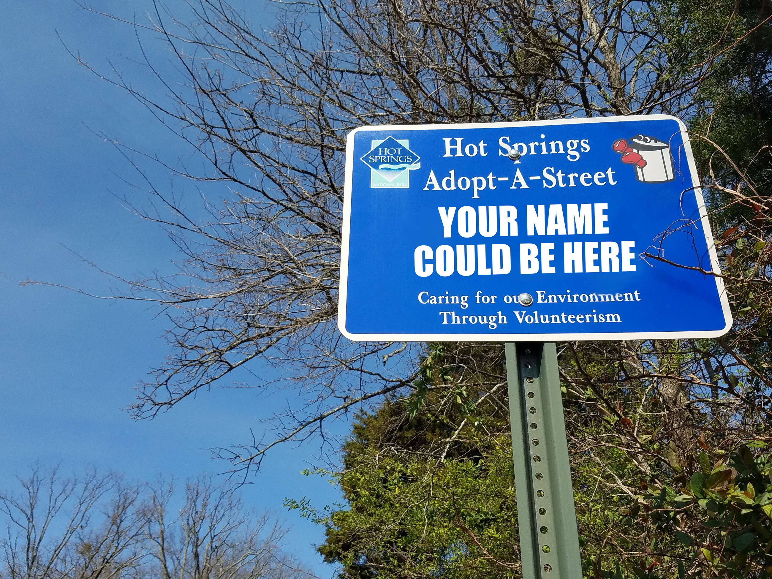 your name could be here adopt a street