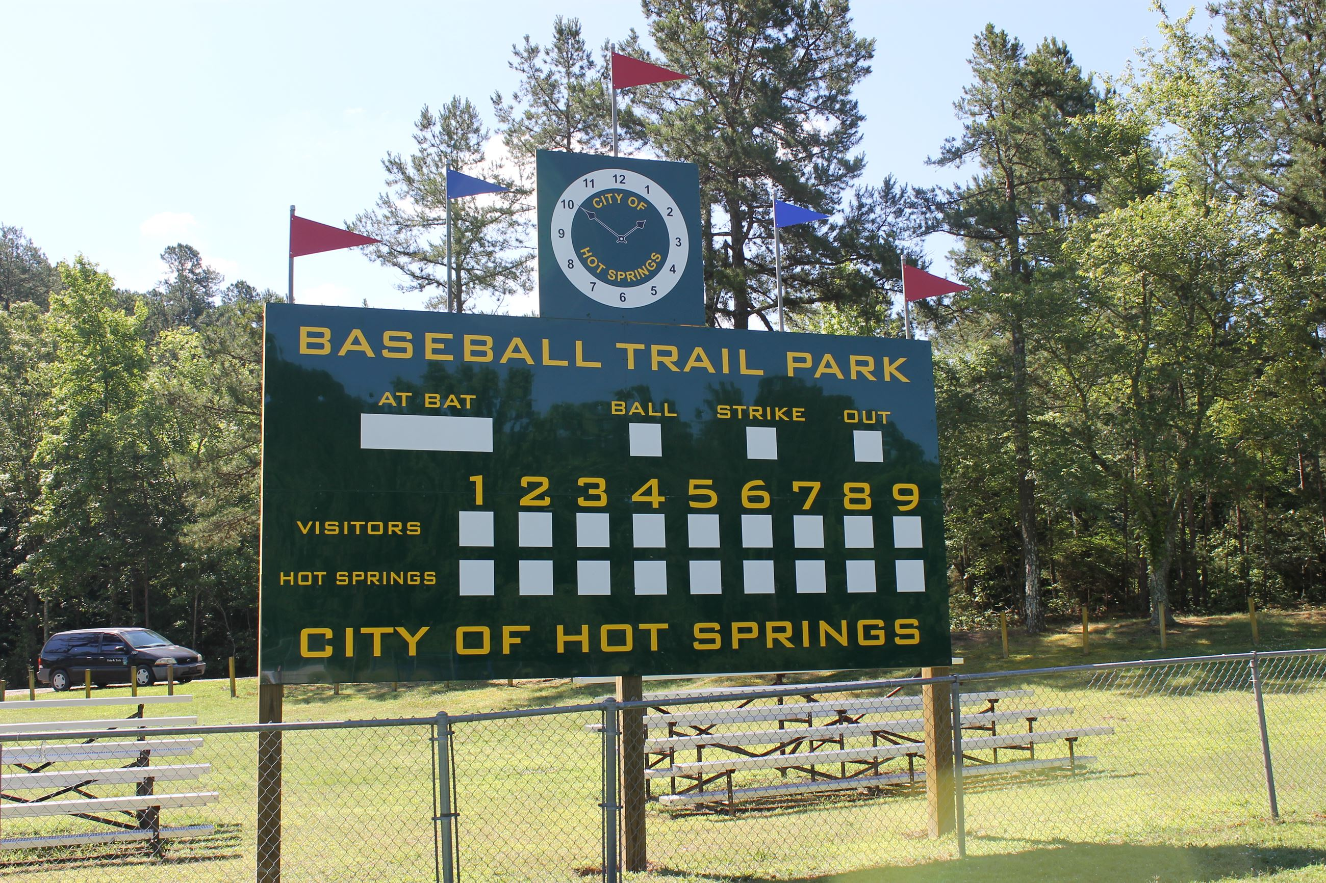 Baseball Trail Dixie League Baseball Field Sign